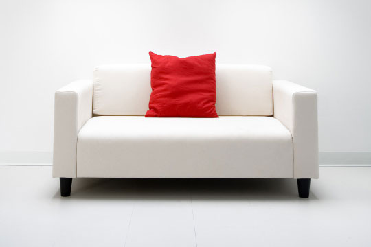 Amazing Couches U003e Couch And Sofa Manufacturers. White Love Seat With Red Pillow